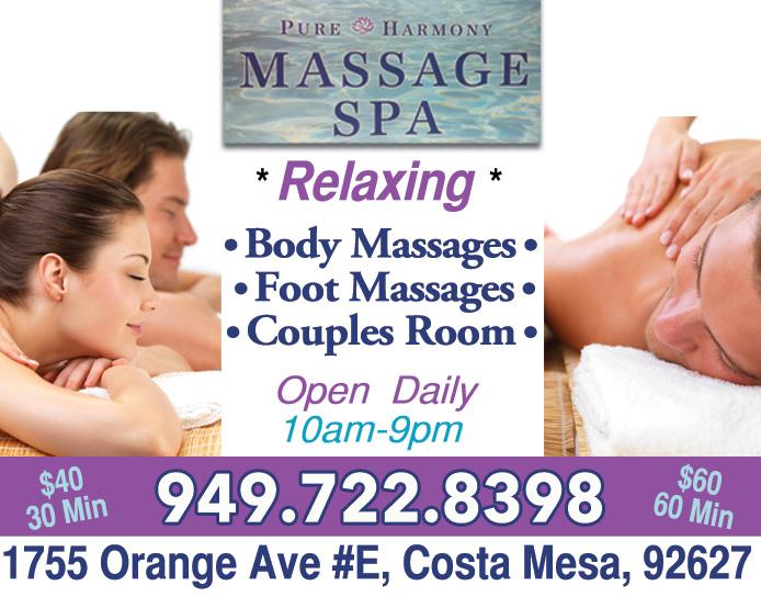 massage technique for men Costa Mesa, California